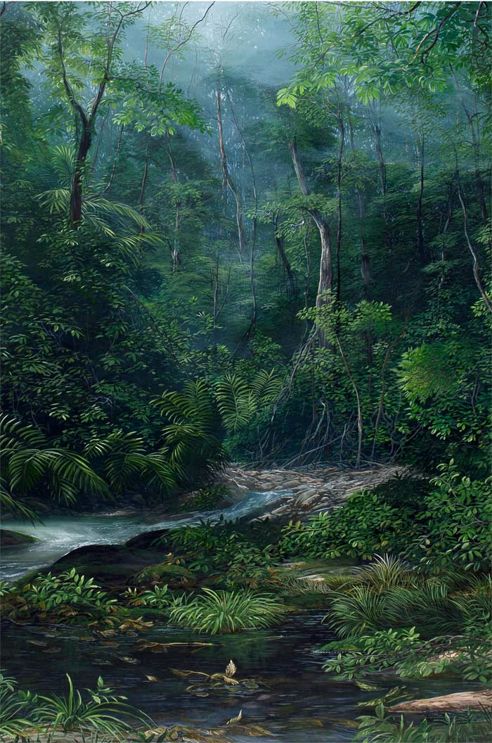 NEBLINA EN EL BOSQUE, 2013, Acrílico sobre tela / Acrylic on canvas 1.00 x 0.80 mt DISPONIBLE AVAILABE